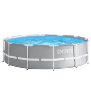 Intex 26724GN above ground pool Framed pool Round 14614 L Grey