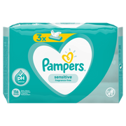 Pampers Sensitive Baby Wipes 3 Packs = 156 Wipes