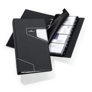 Durable Visifix Pro business card holder Charcoal
