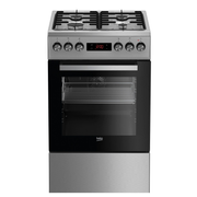 Beko FSE52320DXD cooker Freestanding cooker Gas Black, Stainless steel A