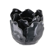 A Simple Mess 963791 candle holder Stoneware Black, Pearl