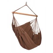 LA SIESTA Modesta Brown Hanging hammock chair