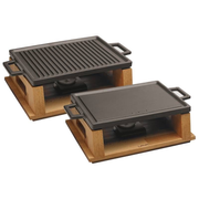 Paderno 44227-30 raclette grill 3 person(s) Black, Wood