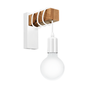 EGLO Townshend Suitable for indoor use E27 White, Wood