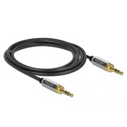 DeLOCK 85785 audio cable 1 m 3.5mm Black, Grey