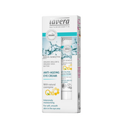 Lavera Basis Sensitiv Anti-ageing Eye Cream Q10 15 ml, Women, Sensitive skin, Universal, Anti-aging, Anti-wrinkle, Hydrating, Smoothing, Shea butter, Tube, Water (Aqua), Alcohol, Dicaprylyl Ether, Glycerin, Crambe Abyssinica Seed Oil, Decyl Cocoate,...