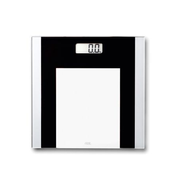 ADE BE1722, Electronic personal scale, 180 kg, kg,lb, Square, Black,Silver, Glass
