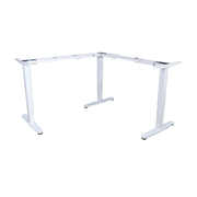 Equip ERGO L Shaped Electric Sit-Stand Desk Frame, Triple Motor, White