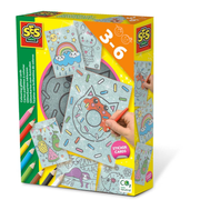 SES Creative Colouring glitter cards