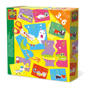 SES Creative I learn to use scissors - Animal puzzle