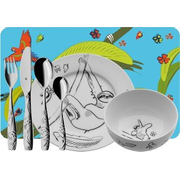 WMF 12.8606.9964 toddler cutlery Toddler cutlery set Multicolour, Stainless steel Porcelain, Stainless steel
