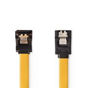 Nedis CCGP73260YE05 SATA cable 0.5 m SATA 7-pin Black, Yellow