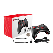 MSI FORCE GC30 Wireless Pro Gaming Controller PC and Android 'PC and Android ready, Upto 8 hours battery usage, adjustable D-Pad cover, Dual vibration motors, Ergonomic design'