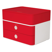 HAN 1100-17, 2 drawer(s), Plastic, Red, White, 1 pc(s), 260 mm, 195 mm
