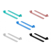 DeLOCK 18829 cable tie Releasable cable tie Silicone Assorted colours 10 pc(s)