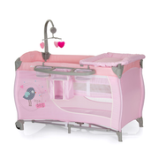 Hauck Babycentre baby travel bed Pink