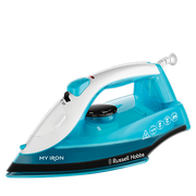 Russell Hobbs 25580-5, Dry & Steam iron, Ceramic soleplate, 2 m, 120 g/min, Blue,White, 28 g/min