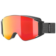 Uvex 5513312030 winter sport goggles Black Unisex Red Cylindrical(flat) lens