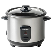 Bestron ARC100 rice cooker 1 L 400 W Black, Stainless steel