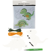 Creativ Company 977217, Animals, Cardboard, 2 pc(s), Hanging polybag, Green, Orange