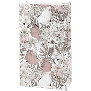 Creativ Company 25362, Gift wrap bag, Beige, Brown, Rose, White, Pattern, Paper, Congratulations, 8 pc(s)
