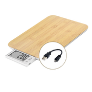 Little Balance 8231 Rectangle Bamboo Electronic personal scale