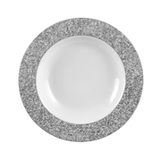 Seltmann Weiden Holiday Soup plate Round Porcelain Grey, White