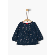 s.Oliver 65.911.31.7710, Female, Blouse, Blue, White, Baby (height), Pattern, Long sleeve