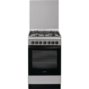 Indesit IS5G5PHX/E Freestanding cooker Gas Black, Grey A