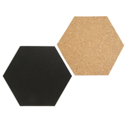 Securit FB-CB-HEX bulletin board Fixed bulletin board Black, Brown Cork, Metal