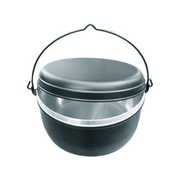 Garcima A6026 camping cookware Pot 6.5 L Black, Stainless steel