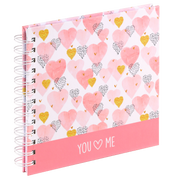 Hama Hearts photo album Black, Gold, Rose, White 30 sheets 15 x 15 cm