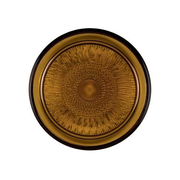BITZ 912112 dining plate Dinner plate Round Glass Amber
