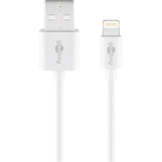 Goobay 72905 lightning cable 0.5 m White