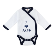 Milarda I love Papa Long sleeve Male 3-6m One piece