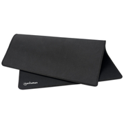 Manhattan XL Gaming Mousepad Smooth Top Surface Mat, Large nylon fabric surface area to improve tracking for better mouse performance (400x320x3mm), Non Slip Rubber Base, Waterproof, Stitched Edges, Black, Lifetime Warranty, Retail Box