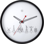 NeXtime World Tour Quartz wall clock Round Black, White