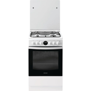 Indesit IS5G8CHW/PO Freestanding cooker Gas Black, White A