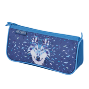 Herlitz Wild Animals Wolf Soft pencil case Polyester Blue