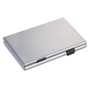 TROIKA CDC36-BK business card holder Black, Silver