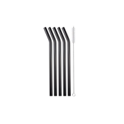 Strawganic 101115 reusable drinking straw Black Glass 5 pc(s)