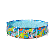 Bestway 56985 above ground pool Framed pool Round 4062 L Multicolour