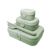 koziol PASCAL READY Lunch box set Thermoplastic Green 3 pc(s)