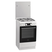 Whirlpool WS5G8CHWE cooker Freestanding cooker Gas Black, White