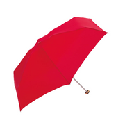 Because BE-03836 Red Polyester Compact Rain umbrella