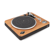 The House Of Marley Stir It Up Wireless Audio-Plattenspieler mit Riemenantrieb Schwarz, Holz