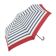 Because BE-01914 Blue, Red, White Polyester Compact Rain umbrella