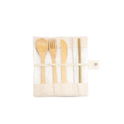 Strawganic 403101 flatware set 5 pc(s) Bamboo