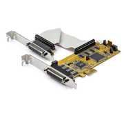 StarTech.com 8-Port PCI Express RS232 Serial Adapter Card - PCIe RS232 Serial Card - 16C1050 UART - Low Profile Serial DB9 Controller/Expansion Card - 15kV ESD Protection - Windows/Linux