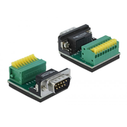 DeLOCK 66321 wire connector 1 x serial Sub-D 9, 1 x 9 pin Black, Green, Silver, Yellow